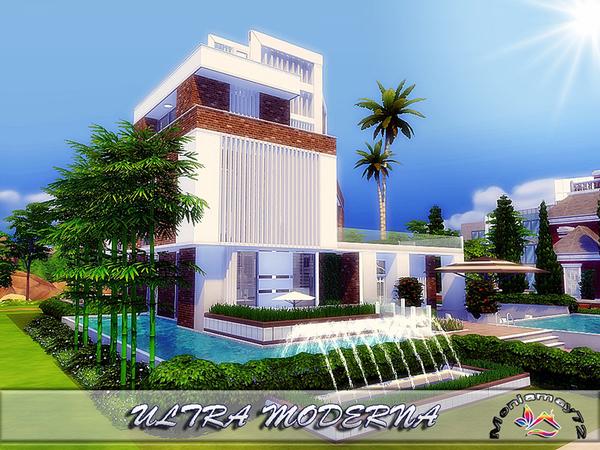 Sims 4 ULTRA MODERNA house by Moniamay72 at TSR