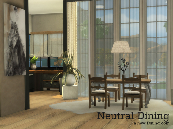 Neutral Dining by Angela at TSR image 4118 Sims 4 Updates