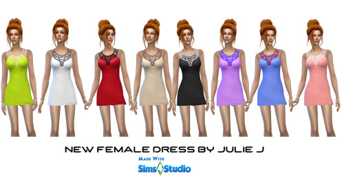 Sims 4 New Female Dress at Julietoon – Julie J