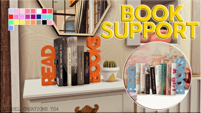 Sims 4 BOOK SUPPORT at Victor Miguel