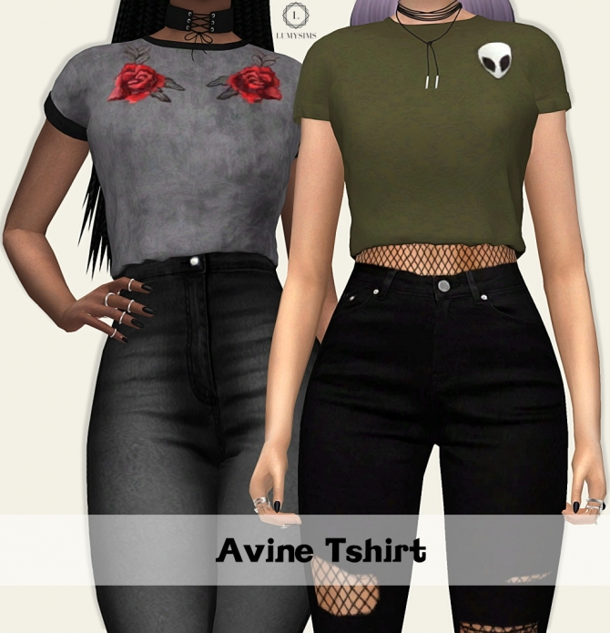 Avine T Shirt At Lumy Sims 187 Sims 4 Updates