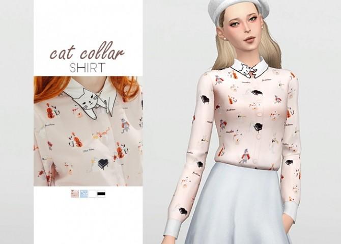Cat Collar Shirt at Waekey image 417 670x479 Sims 4 Updates