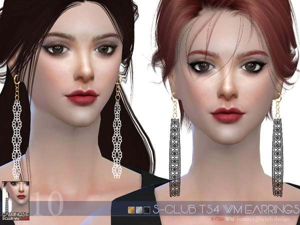 EARRINGS F 201710 by S Club WM at TSR image 4218 Sims 4 Updates