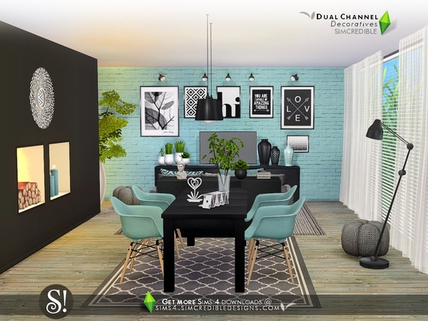 Dual channel decoratives by SIMcredible at TSR image 4327 Sims 4 Updates