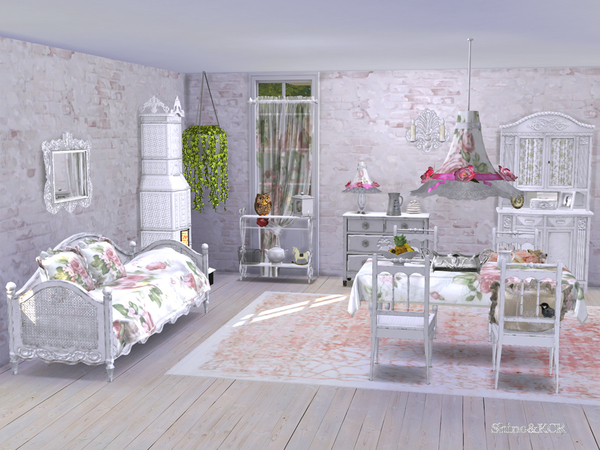 Shabby Chic Dining by ShinoKCR at TSR image 434 Sims 4 Updates
