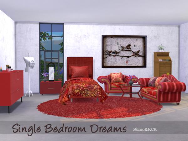Sims 4 Single Bedroom Dreams by ShinoKCR at TSR