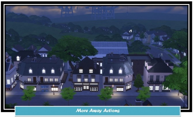 Sims 4 More Away Actions by LittleMsSam