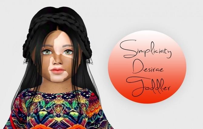 Simpliciaty Desirae Hair Toddler Version at Simiracle image 443 670x427 Sims 4 Updates