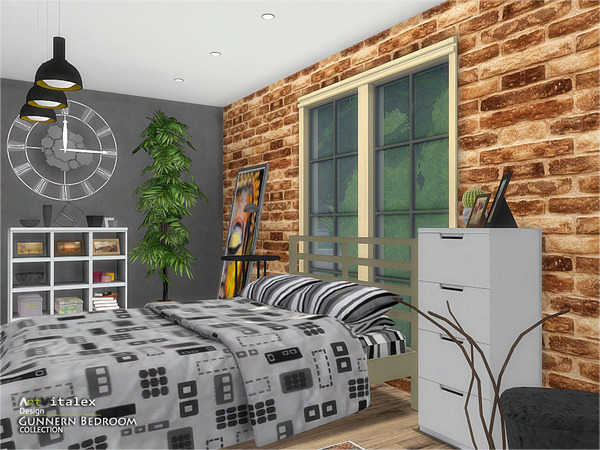 Gunnern Bedroom by ArtVitalex at TSR image 448 Sims 4 Updates