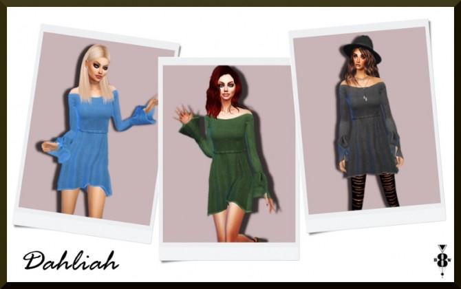 Sims 4 DAHLIAH DRESS at Blue8white