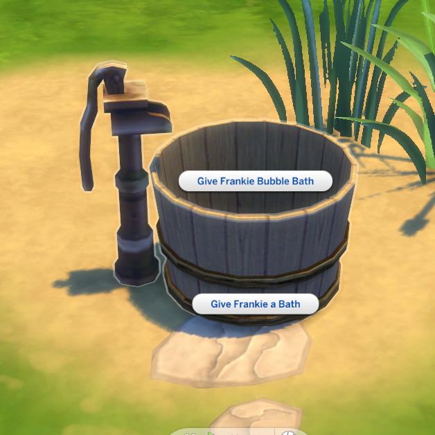 Sims 4 Toddler Washtub by BigUglyHag at SimsWorkshop