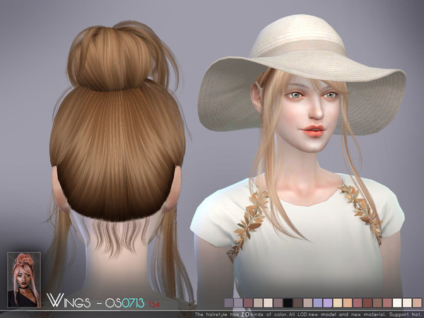 Hair OS0713 by wingssims at TSR image 460 Sims 4 Updates
