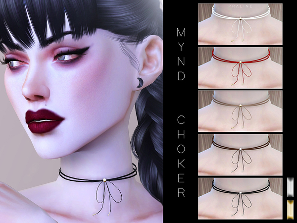Sims 4 Mynd Choker by Pralinesims at TSR