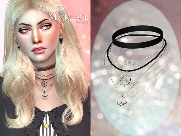Vester Necklace by Pralinesims at TSR image 468 Sims 4 Updates