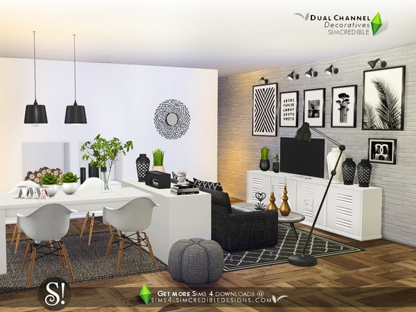 Dual channel decoratives by SIMcredible at TSR image 4718 Sims 4 Updates
