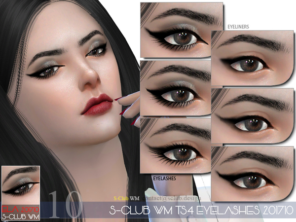 Eyelashes 201710 by S Club WM at TSR image 476 Sims 4 Updates