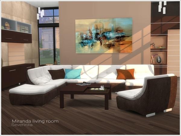 Miranda living room by Severinka at TSR image 480 Sims 4 Updates