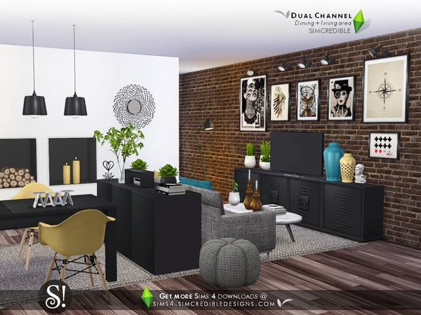 Dual channel decoratives by SIMcredible at TSR image 4818 Sims 4 Updates
