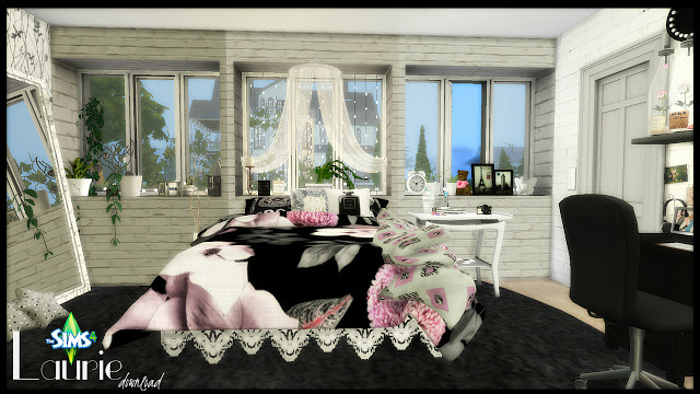 Laurie girly bedroom at Pandasht Productions image 5018 Sims 4 Updates
