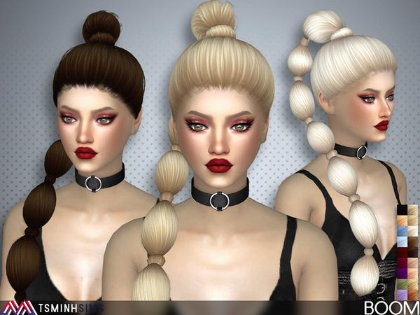 Boom Hair 39 by TsminhSims at TSR image 5019 Sims 4 Updates