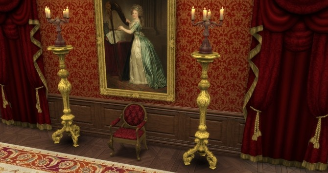Sims 4 Giltwood Torchere by TheJim07 at Mod The Sims
