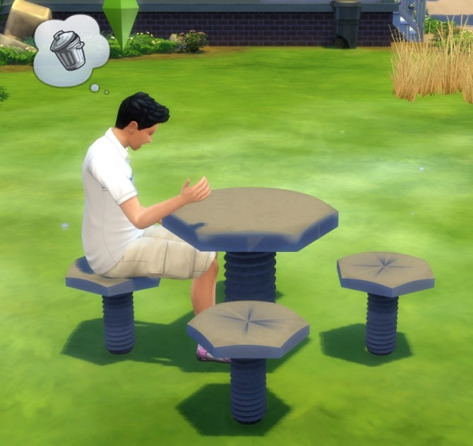 Sims 4 Bolts For Nuts Table and Chair by BigUglyHag at SimsWorkshop