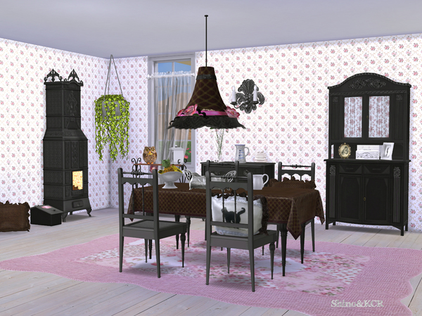 Shabby Chic Dining by ShinoKCR at TSR image 510 Sims 4 Updates