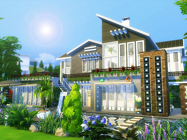 Black Orchid house by MychQQQ at TSR image 5113 Sims 4 Updates