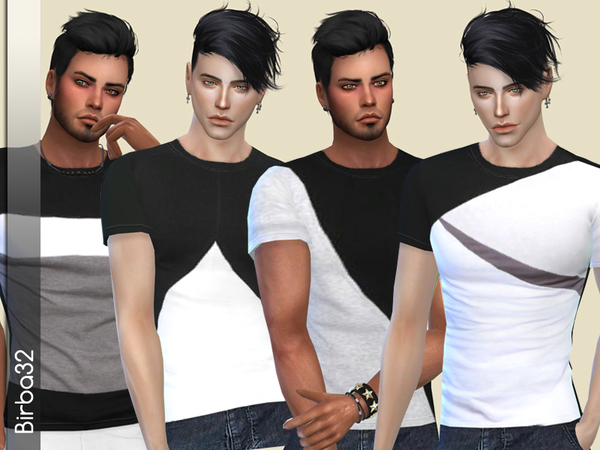 Geometric T Shirts by Birba32 at TSR image 5114 Sims 4 Updates