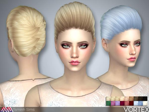 Vortex Hair 36 by TsminhSims at TSR image 512 Sims 4 Updates