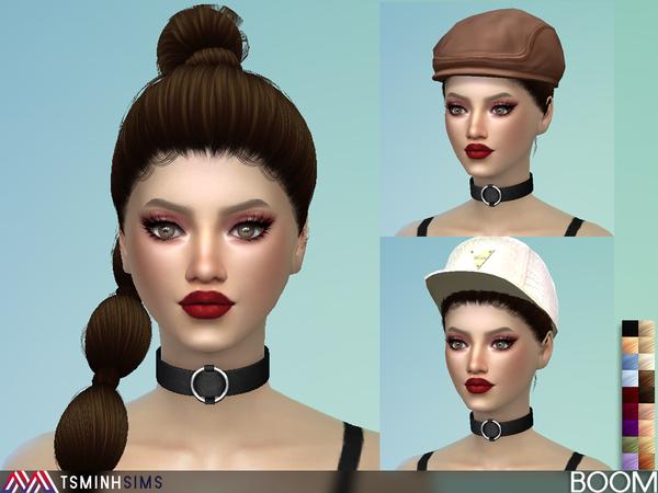 Boom Hair 39 by TsminhSims at TSR image 5122 Sims 4 Updates