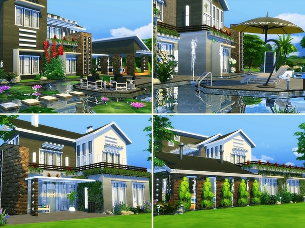 Black Orchid house by MychQQQ at TSR image 5211 Sims 4 Updates