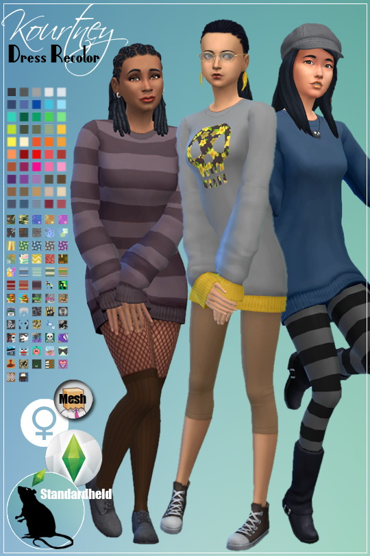 Kourtney Dress Recolor recolor by Standardheld at SimsWorkshop image 5218 Sims 4 Updates