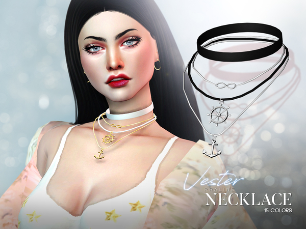 Vester Necklace by Pralinesims at TSR image 529 Sims 4 Updates