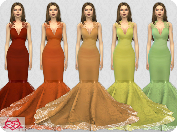 Sims 4 Wedding Dress 8 RECOLOR 2 by Colores Urbanos at TSR