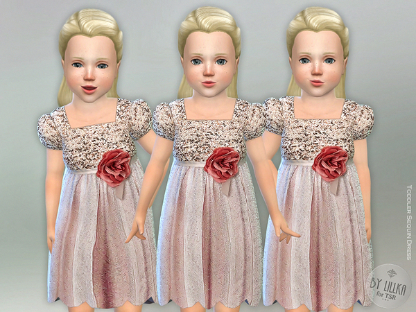 Toddler Sequin Dress by lillka at TSR image 5310 Sims 4 Updates