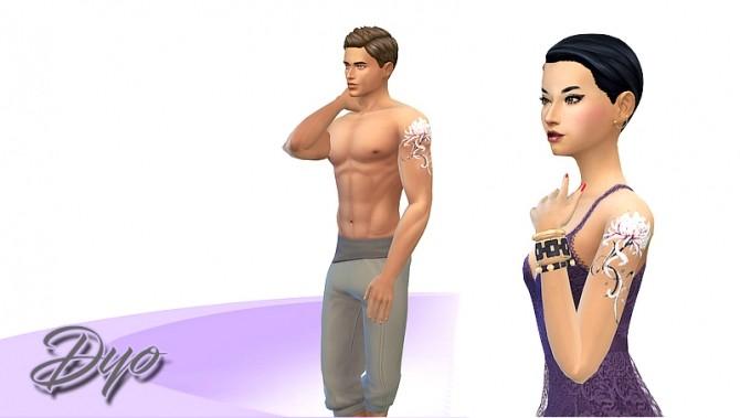 Tatoo higanbana by Dyokabb at Les Sims4 image 535 670x379 Sims 4 Updates