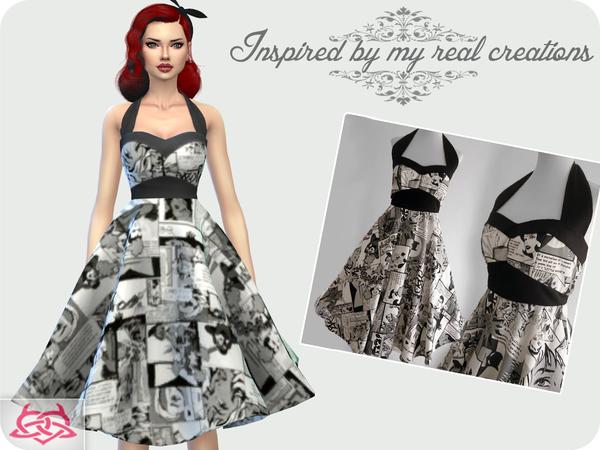 Sims 4 Sarah dress by Colores Urbanos at TSR