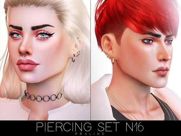 Piercing Set N16 by Pralinesims at TSR image 559 Sims 4 Updates