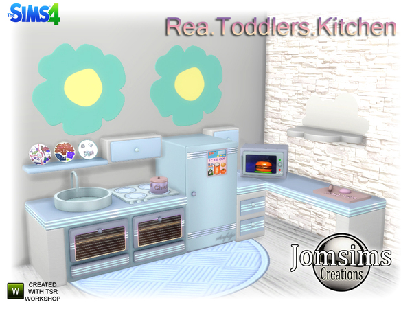 Rea Toddlers Kitchen by jomsims at TSR image 570 Sims 4 Updates