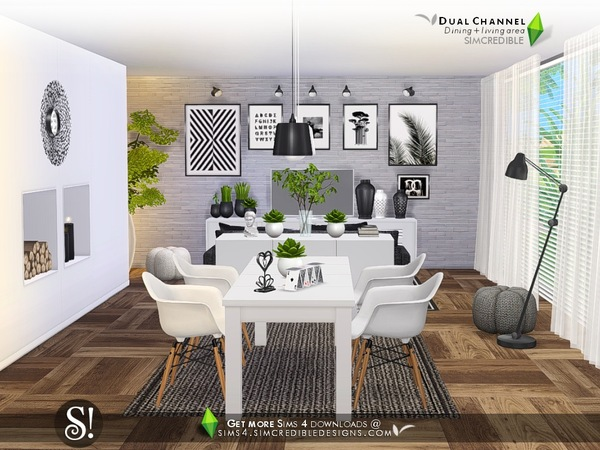 Dual Channel diningroom by SIMcredible at TSR image 590 Sims 4 Updates