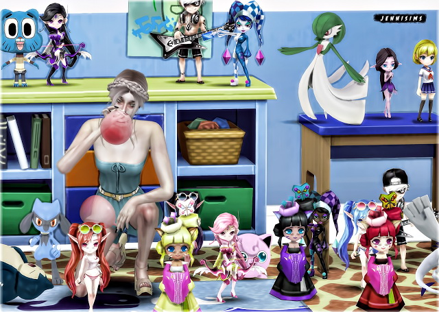 Sims 4 Set Vol 69 Doll, Pokemon 16 Items at Jenni Sims
