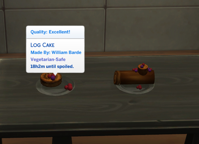 Cocoa Cravings Log Cake and Rum Balls by icemunmun at Mod The Sims image 5912 Sims 4 Updates