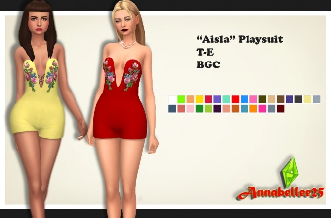 Aisla Playsuit by Annabellee25 at SimsWorkshop image 601 670x443 Sims 4 Updates