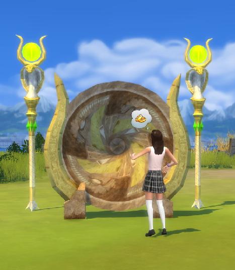 Sims 4 Portal Gate & Scepter Of Eternity by BigUglyHag at SimsWorkshop