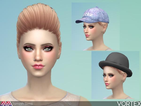 Vortex Hair 36 by TsminhSims at TSR image 612 Sims 4 Updates