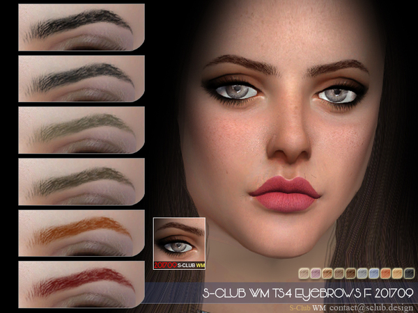 Eyebrows F 201709 by S Club WM at TSR image 616 Sims 4 Updates