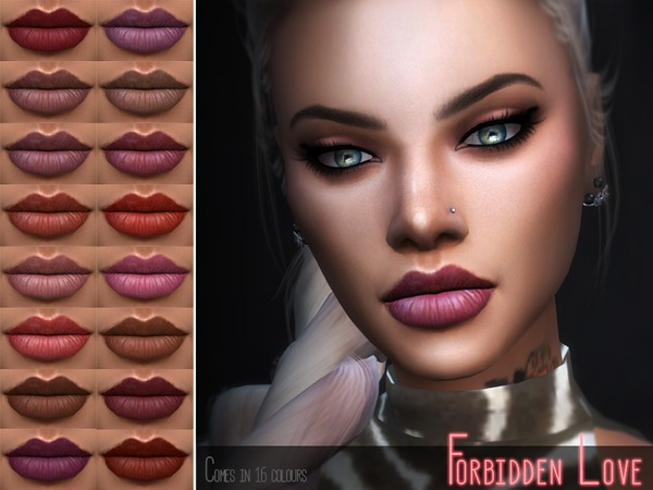 KM Forbidden Love Lipstick by Kitty.Meow at TSR image 6212 Sims 4 Updates