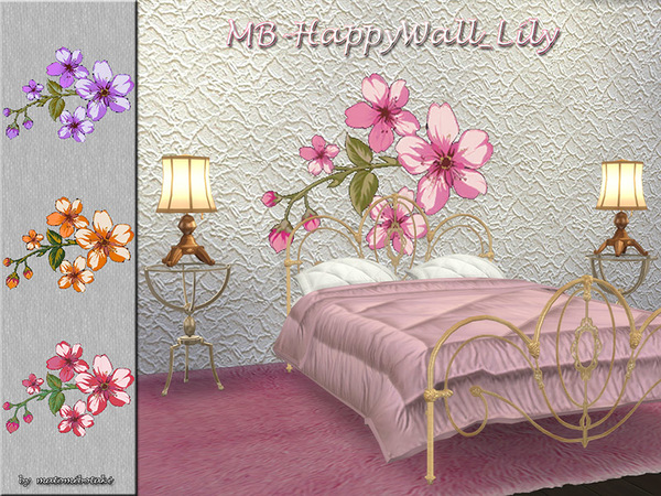 MB Happy Wall Lily by matomibotaki at TSR image 6213 Sims 4 Updates