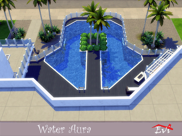Sims 4 Water Aura house by evi at TSR